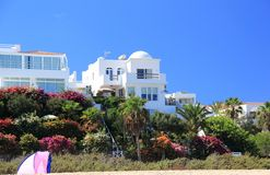 Luxury beachfront holiday villas. Stock Photos