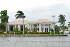 Luxury beachfront property Royalty Free Stock Photo