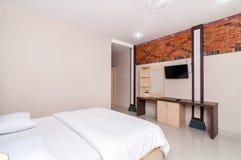 Luxury and Beautiful Bedroom Hotel Stock Photography