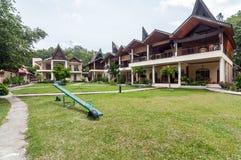 Luxury and Beautiful exterior garden villa Lakefront Stock Photos