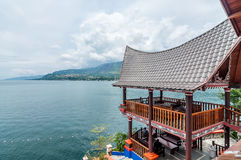 Luxury and Beautiful exterior villa in Samosir Island Stock Image