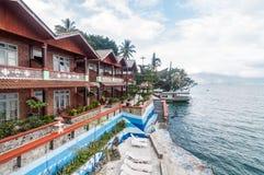 Luxury and Beautiful exterior villa in Samosir Island Royalty Free Stock Photos