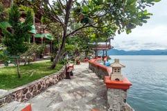 Luxury and Beautiful exterior villa in Samosir Island Stock Photography