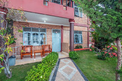 Luxury and Beautiful exterior villa in Samosir Island Stock Photo