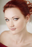 Luxury beautiful redhaired woman Stock Image