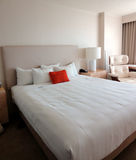 Luxury Bed. A picture of a luxury bed in a hotel room Stock Images