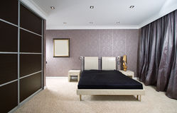 Luxury bed, close-up Royalty Free Stock Photography