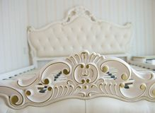 Luxury bed detail Stock Photography