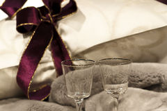 Luxury bed linen Stock Images