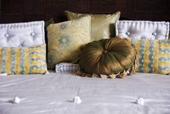 Luxury Bedding. Luxury Fine Bedding and cushions Stock Photography