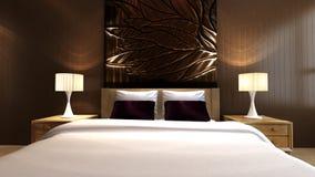 Luxury bedroom. In minimalist style Stock Images