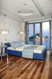 Luxury bedroom with beautiful view Royalty Free Stock Image