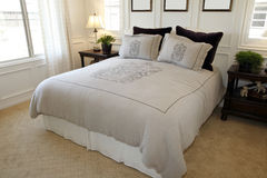 Luxury bedroom decor Stock Image