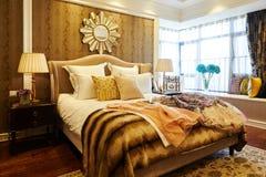 Luxury bedroom decoration Stock Photos