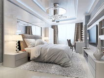 Luxury bedroom interior Stock Images