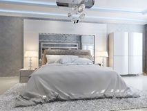 Luxury bedroom interior Royalty Free Stock Photo