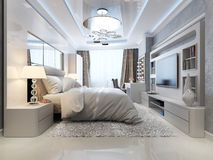 Luxury bedroom interior Royalty Free Stock Photos