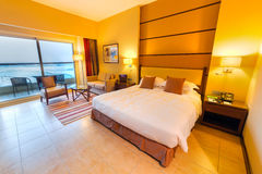 Luxury bedroom of Khalidiya Palace by Rotana in Abu Dhabi, UAE Royalty Free Stock Photos