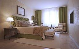 Luxury bedroom mediterranean style Stock Photography