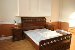 Luxury bedroom woth old style furniture stock photography
