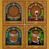 Luxury beer wine set label banner Stock Photo