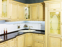 Luxury Beige Kitchen Royalty Free Stock Images