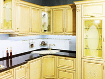 Luxury Beige Kitchen Royalty Free Stock Image