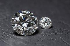 Diamond Round Shape. Luxury big carat diamond background royalty free stock images