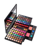 Luxury big cosmetic palette kit Royalty Free Stock Photo