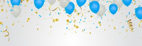 Luxury birthday background with colorful balloons and copyspace. EPS 10 vector file included. Eps stock illustration