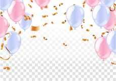 Luxury birthday background with colorful balloons and copyspace. EPS 10 vector file included. Eps vector illustration