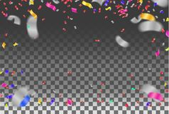 Luxury birthday background with colorful balloons and copyspace. EPS 10 vector file included. Eps royalty free illustration