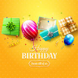 Luxury birthday greeting card Stock Photography