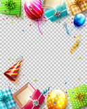 Luxury birthday template Stock Photography