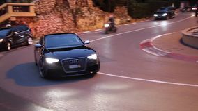 Luxury Black Audi S8 in Monte-Carlo, Monaco
