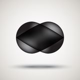 Luxury black bubble badge with light background Royalty Free Stock Images