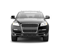 Luxury black crossover front view Royalty Free Stock Photography