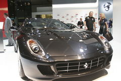 Luxury black ferrari 2009 car Royalty Free Stock Image