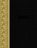 Luxury black & gold cover design Royalty Free Stock Photo