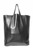 Luxury black leather female bag Royalty Free Stock Image