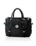 Luxury black leather lady handbag Royalty Free Stock Image