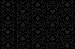 Luxury black poker background with card symbols Royalty Free Stock Image