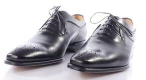 Luxury black shoes Stock Photo
