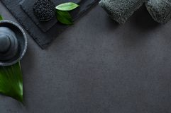 Luxury black spa stock images