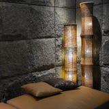 Luxury black stone interior Stock Photography