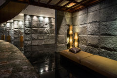 Luxury black stone interior Royalty Free Stock Photography