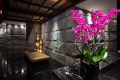 Luxury black stone interior Stock Photo