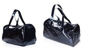Luxury black women bag isolated on white Stock Image
