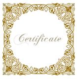 A luxury blank certificate Stock Photos