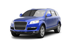 Luxury Blue Crossover SUV Royalty Free Stock Photography